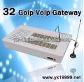 32 goip gsm de internet fijo inalámbrico de puerta de enlace