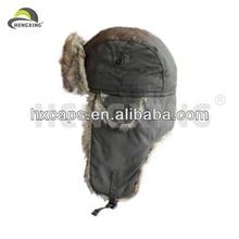 Russian fur men warm trooper winter ear flap hat