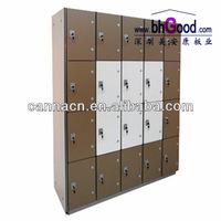 anti-rusty formica storage lockers with bench