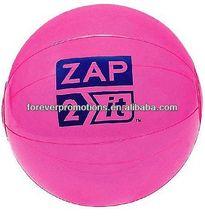 "Translucent Pink Beach Balls - 18"""