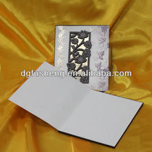 Luxury design white royal modern wedding invitation cards