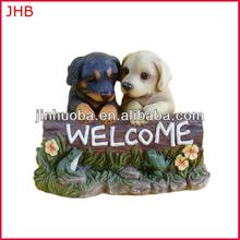 Petsmart Vendor resin dog welcome dog statues for sale