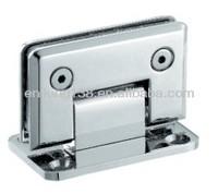 bevel circinal angle 90 degree double side bathroom glass clamp