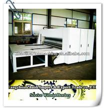 Semi- auto chain corrugated paperboard multi-color printing machine