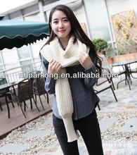 handmade knit sleeve scarf