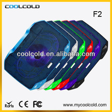 Coolcold cooling single fan for 14inch cooler pad laptop accessory