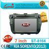 LSQ Star for Kia Sorento 2013 car autoradio with GPS 3G SD USB IPOD TV cheap! ST-8164
