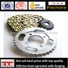 China manufacturer motorcycle spare parts bajaj motorcycle chain sprocket kit