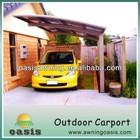 Modern high quality aluminum frame carport