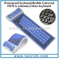 LBK118 Flexible cheap waterproof Wireless bluetooth keyboard for ipad mini for tablet pc for ipad ultra flat different keyboard