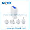 Multi function 5V 3.1A Blue LED 5 Port 4 port usb charger for iphone 5 with EU, UK, US, AU Plugs
