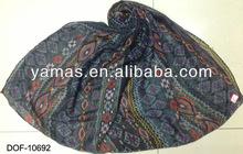 Fashion printing classical geometrical pattern pashmina shawl stock now!