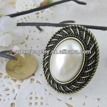 China Accessory Retro Pearl/Gemstone Engagement Ring