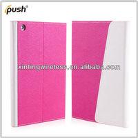 For iPad Mini 2 PU Leather Case Fold Flip Leather Case For iPad mini 2 With Sleep Wake