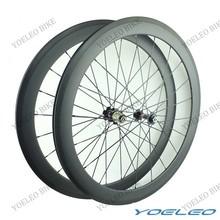 Roues de carbone chinois vélo de route roues 50 mm avec Novatec hubs, Cn rayons aero