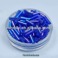 Wholesale Rainbow Color Multi-purpose Handmade Sew Bugle Beads GSB-4RB02