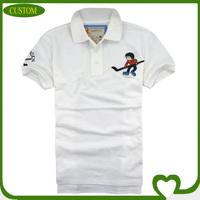 Custom the men's fashionable 100% cotton golf t-shirt manufacturer
