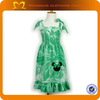 Fashion baby girl frock design girls long frock with decorative mickey girls frocks design fashion dress