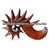Vision Handcrafted Modern Wood Sculpture Modern Art