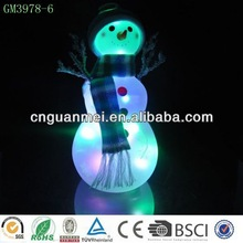 smile glass snowman with led light / Christmas decoration