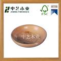 Personalizado handmade de madeira saladeira