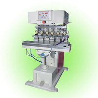 Shenzhen cup sealing 6 color tampon machine F-P200S6