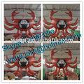 Publicidad animales / inflable del cangrejo