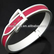 metal spring bracelet red color powder on it bracelet bsci factory direct bracelet (SWTCXK0276)