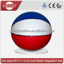 High standard basket ball for inflating