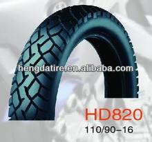Motorcycle Tyre 110/90-16, 6PR, TL