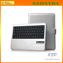 wireless bluetooth keyboard case for new ipad with ABS keyboard case luxury gold leather case