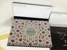 Custom-made calendar with sticky notes