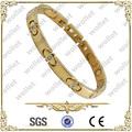 женщин мода позолоченные cz камень браслет из нержавеющей стали магнитов ювелирных изделий решений
