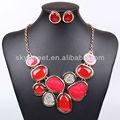 Pakistani set collana nuziale set di gioielli all'ingrosso delicato rubino pietra neaklace( swtn1118- 3)