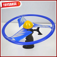 Pull line flying saucer toys