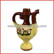 Vintage handmade chinese wine pot design antique ceramic ocarina
