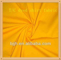handsoft 65 polyester 35 cotton plain dyed t shirt fabric