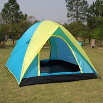 Three Season PU3000 190T Two Doors Tents Camping Family