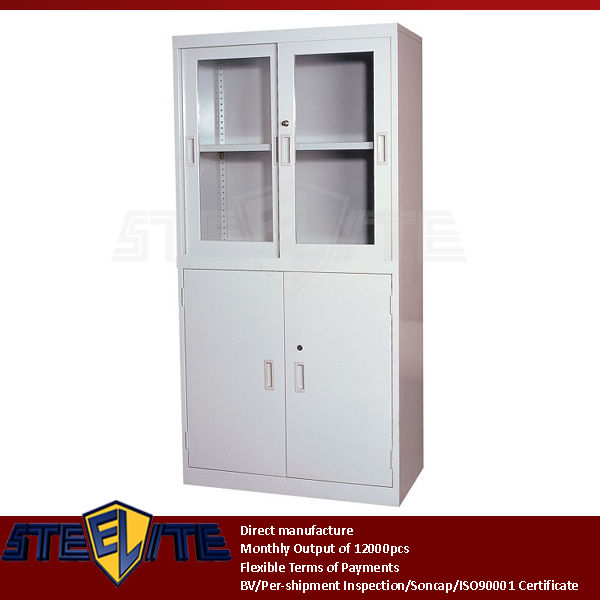 Kitchen Wall Glass Door Corner Cabinet Half Glass Steel 4 Door Used