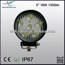 """2014 New arrival, 18W 5"""" Epistar 9-30V 1350lm ip67 led work light 4wd"""