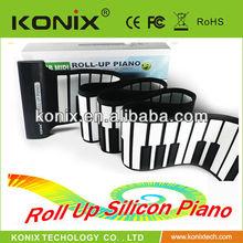88keys silicone roll up midi keyboard