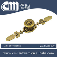 High quality handle products classic antique zinc alloy bed accessory handle