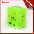 Mini 5v1a universal travel adapter with usb suit for Australia, New Zealand, South Pacific Islands etc(WP-WBT)