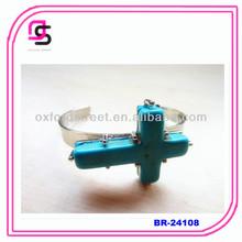 Turquoise cross cuff bangle