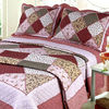 Red Patchwork European Bed Sheets For Decoration YF-697