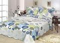 Flor azul de algodón hermosa colchas/cubrecamas