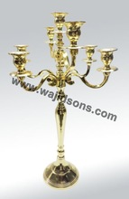 Brass Plated Antique Metal Candlesticks
