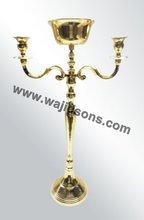 Brass Plated Antique Metal Candlesticks
