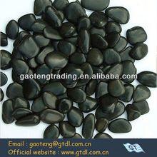 Wide varieties decorative black polished river rock for your selection
