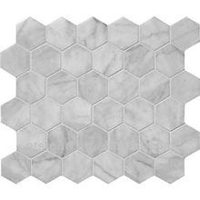 Bianco Carrara Hexagon Mosaic Tiles